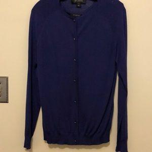 St. John 2 piece sweater set in peacock blue